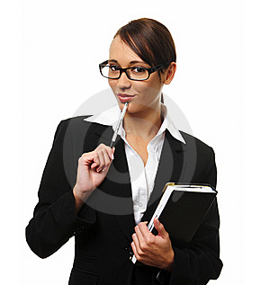 Attractive Brunette Business Woman Royalty Free Stock Image - Image: 15511256