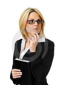 Pretty Blonde Business Woman Royalty Free Stock Images - Image: 15511279