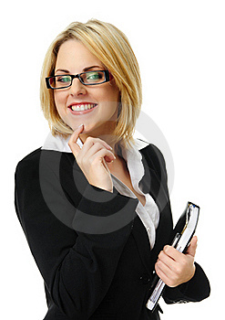 Pretty Blonde Business Woman Stock Photo - Image: 15511290