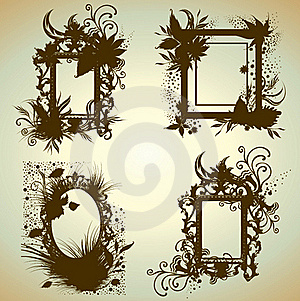 Vector Set Of Vintage Frames Royalty Free Stock Photos - Image: 15512188