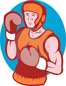 Amateur Boxer In Fighting Stance Royalty Free Stock Image - Image: 15513486