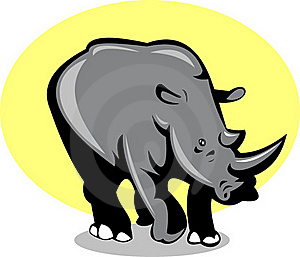 Rhinoceros Attacking Stock Images - Image: 15513514