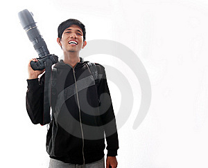 Man Laughing With Camera Stock Image - Image: 15514341