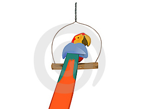 Wood Parrot Stock Image - Image: 15515151