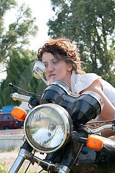 Motorcycle Girl Royalty Free Stock Photography - Image: 15516287