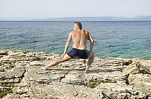 Man Stretching Royalty Free Stock Photo - Image: 15517605