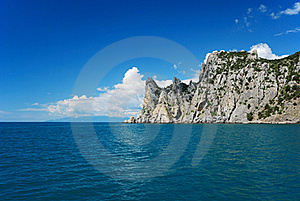 The Crimean Landscape With Pointed Cape Royalty Free Stock Photo - Image: 15517995