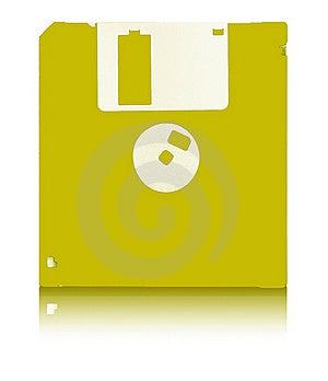 YELLOW FLOPPY DISC Stock Photography - Image: 15518432