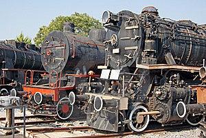 Locomotives Depot Stock Image - Image: 15518591