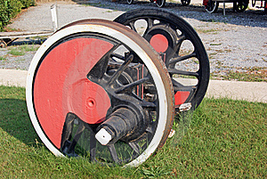 Iron Wheels Axle Stock Photo - Image: 15519420