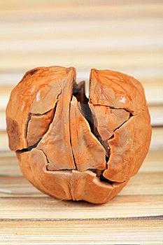 Cracked Walnut Stock Photo - Image: 15522030