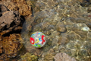 Ball On Adriatic Water Royalty Free Stock Image - Image: 15522966
