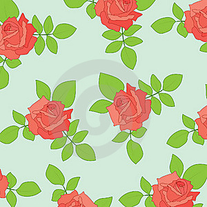 Nice Seamless With Roses Stock Photography - Image: 15523352