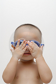 Boy With Swimming Goggles Royalty Free Stock Photo - Image: 15526515