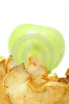 Dried And Fresh Apples Royalty Free Stock Photos - Image: 15527238