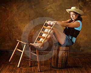Cowgirl Teen Stock Images - Image: 15527824