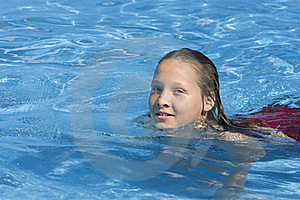 Young Girl Swimming In Pool Stock Images - Image: 15528834