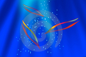 Abstract Dolphins Royalty Free Stock Images - Image: 15531269
