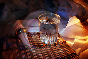 Glass And Serviette Royalty Free Stock Photos - Image: 15531508