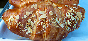 Croissant With Almonds Stock Photo - Image: 15532980
