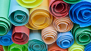 Multicolour Papers. Stock Image - Image: 15533761