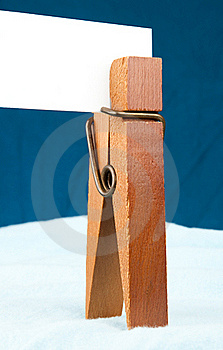 Clothespin Card Stock Images - Image: 15535644