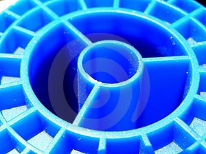 Blue Spool Royalty Free Stock Image - Image: 15535736