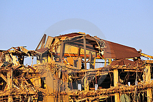 Office Building Demolition Royalty Free Stock Photos - Image: 15538058