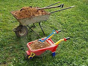 Two Wheelbarrows Royalty Free Stock Photo - Image: 15538185