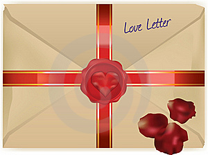 Wax Sealed Love Letter Royalty Free Stock Photography - Image: 15538867