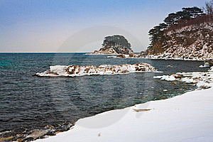 Snowy Beach Royalty Free Stock Images - Image: 15539169