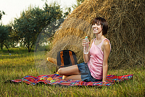 Lovely Girl On Picnic Stock Photo - Image: 15539510