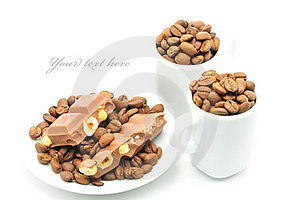 Cups With Coffee And Chocolate Royalty Free Stock Photos - Image: 15540768