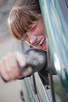 Screaming Woman Shooting From Gun Stock Image - Image: 15541181