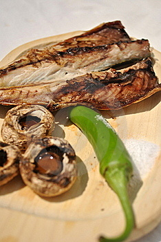 Fish Barbecue Royalty Free Stock Image - Image: 15541946