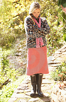 Full Length Portrait Of Young Woman Walking Stock Photography - Image: 15543002