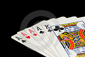 Four Of A Kind, King Kicker - Close Up Stock Images - Image: 15543584