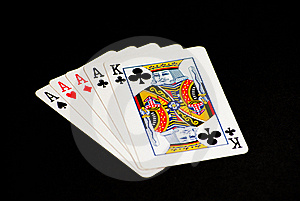 Four Of A Kind, King Kicker Royalty Free Stock Photo - Image: 15543605