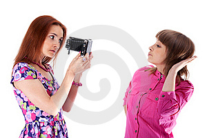Two Beautiful Girls To Pose Royalty Free Stock Photo - Image: 15545085
