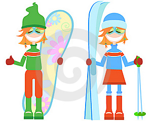 Set Of Girls. Winter Stock Photography - Image: 15545482