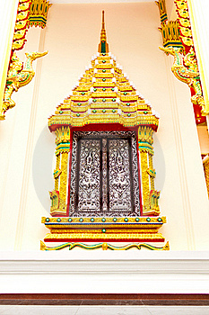 Thai Temple Window Stock Photos - Image: 15549303