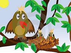 Birdie Around Jack With Nestling Stock Photo - Image: 15551590