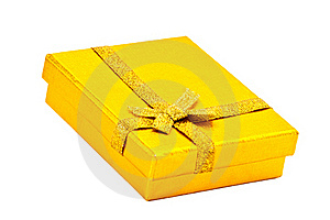 Attractive Yellow Gift Box Royalty Free Stock Photos - Image: 15553348