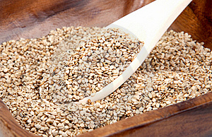 Sesame In A Bowl Stock Images - Image: 15553594