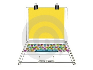 Wire Laptop Stock Photos - Image: 15556043