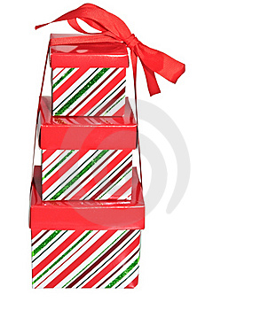 Three Gift Boxes With Ribbon Stock Photography - Image: 15556452
