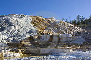 Mammoth Hot Springs Stock Image - Image: 15557581