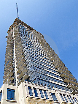 Condo Tower Under Construction Royalty Free Stock Photo - Image: 15558165