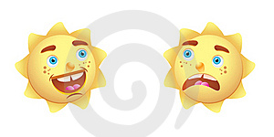 Sun Cartoon Character Stock Photo - Image: 15559470