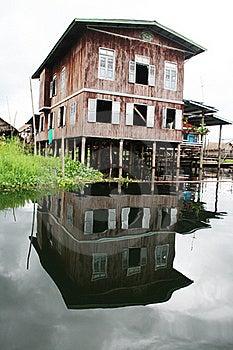 Burmese Dwelling Stock Image - Image: 15562371